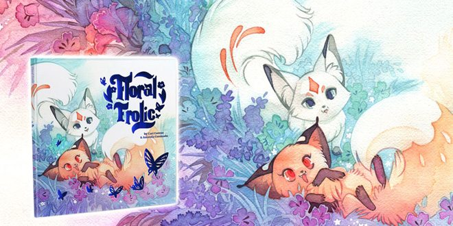 Support Floral Frolic on Kickstarter, a cute fox story with beautiful watercolor art.