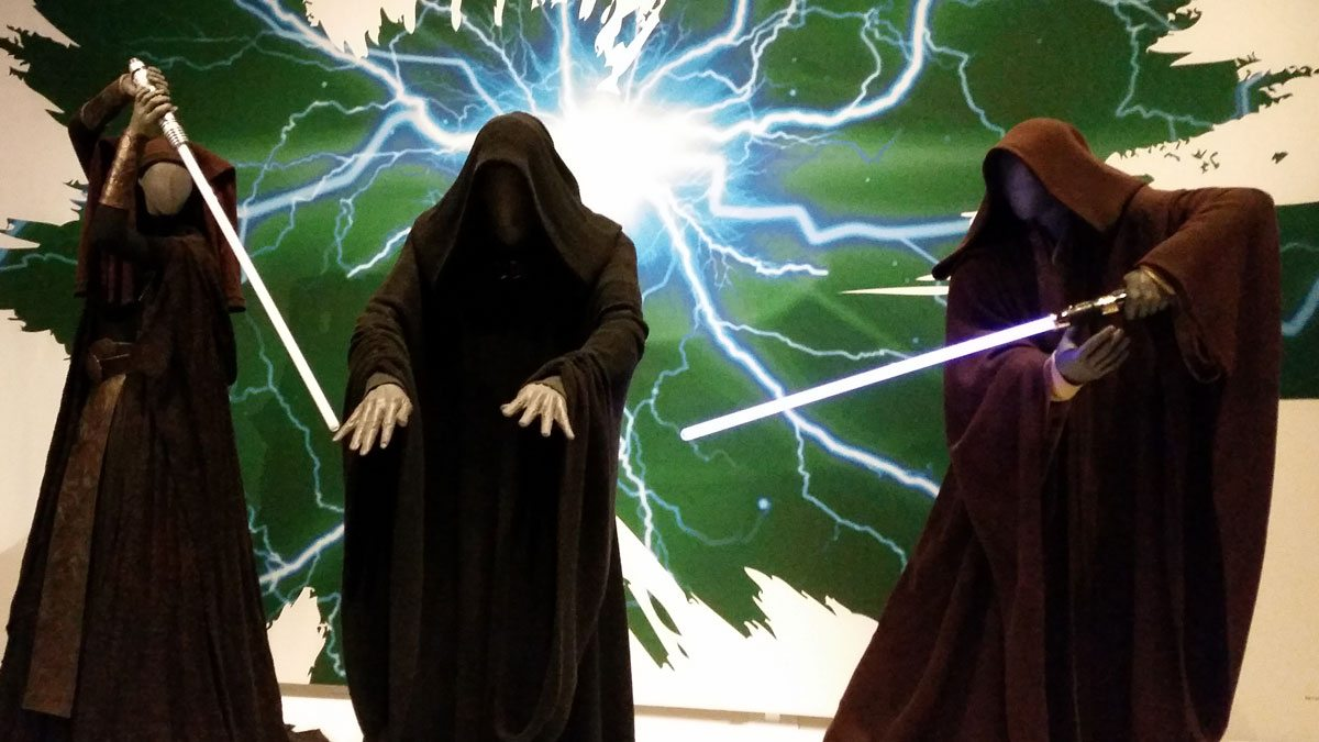 The Jedi battle the Emperor. Photo by Rob Huddleston.