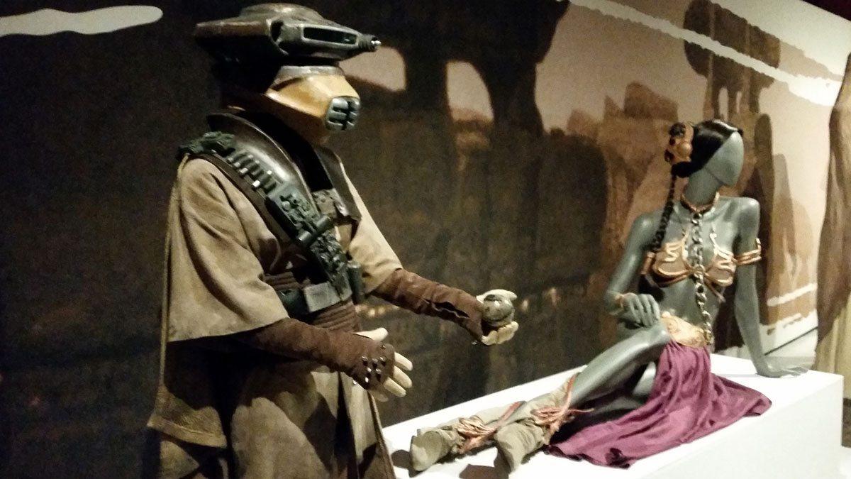 Leia's bounty hunter disguise, and of course the slave bikini. Photo by Rob Huddleston.