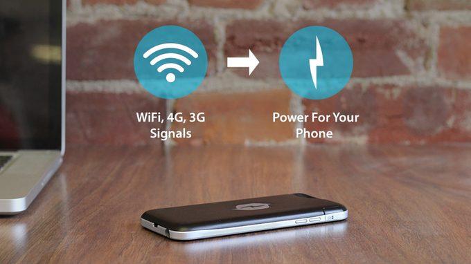 Nikola Labs RF-to-DC smartphone case