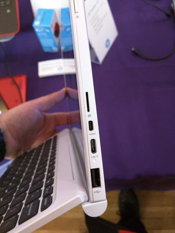 And unlike the New MacBook, it has other port types too. Photo credit: Yoni Gross.