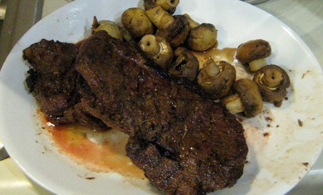 Steaks after grilling