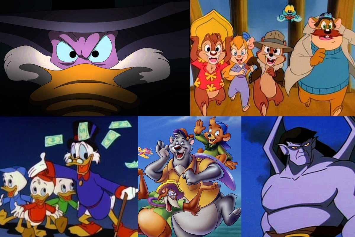 Darkwing Duck, Rescue Rangers, Duck Tales, Talespin, Gargoyles.