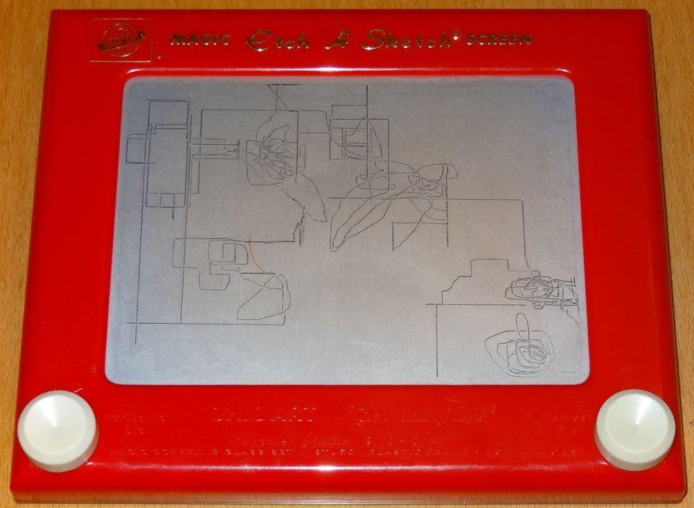 Etch-a-Sketch doodles