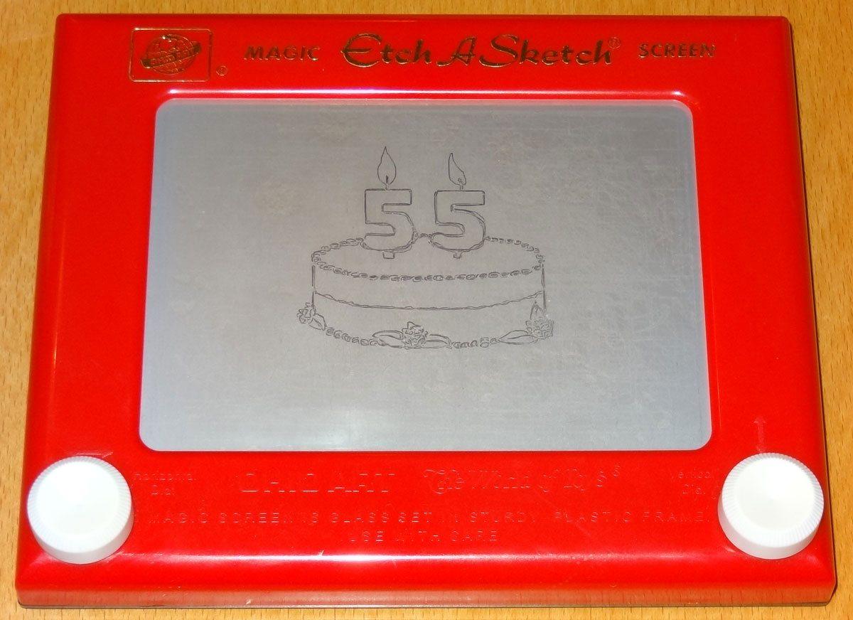 Etch-a-Sketch 55 Birthday