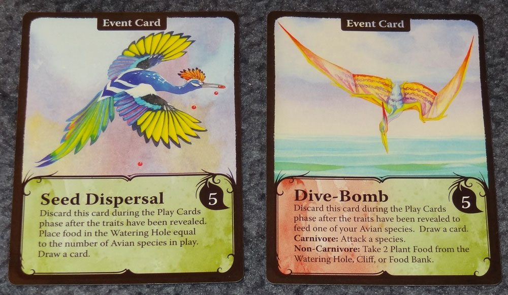 Flight event cards