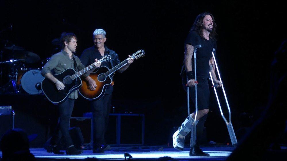 Foo Fighters Toronto Crutch Walk