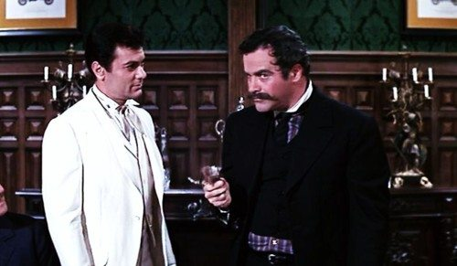 The Great Leslie (Tony Curtis) faces off against Professor Fate (Jack Lemmon) in 'The Great Race.'