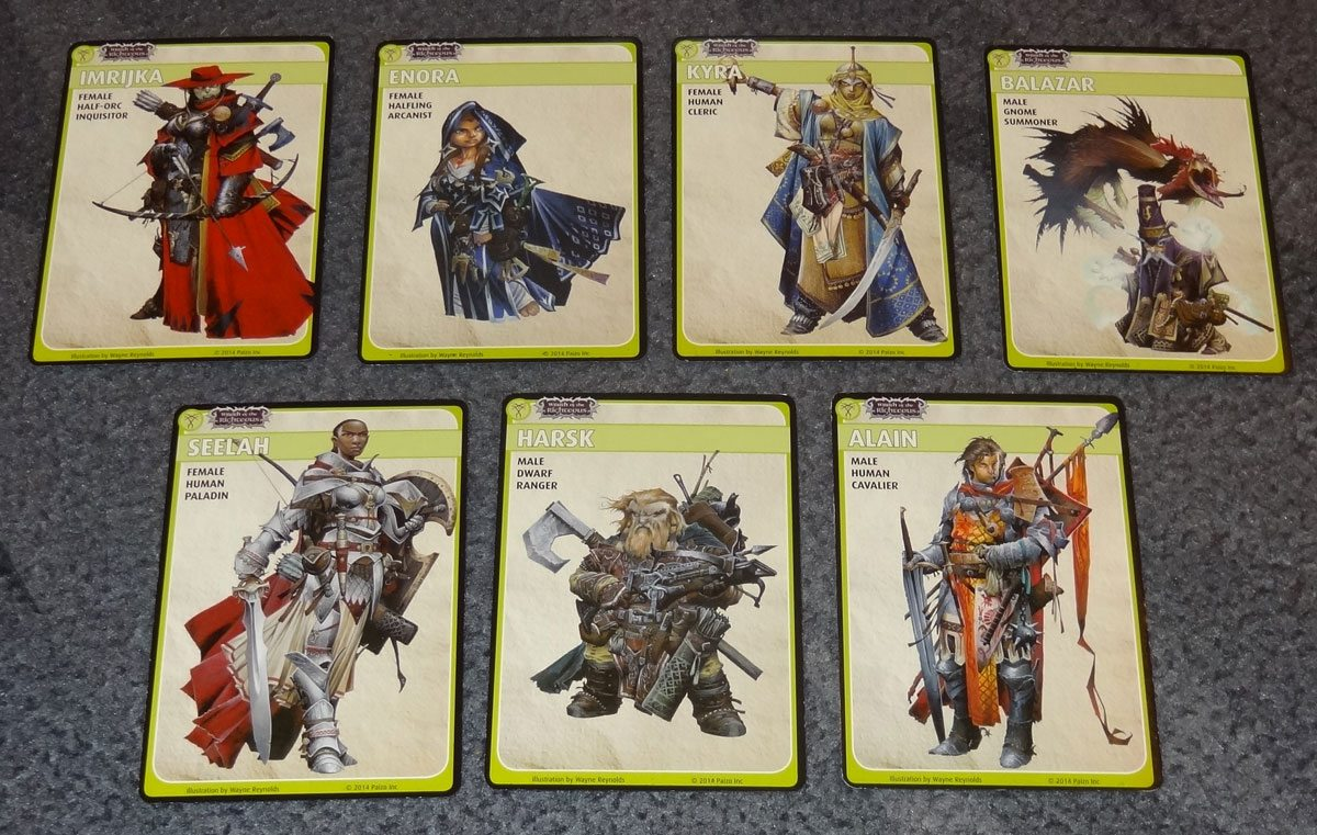 PACG Wrath Characters