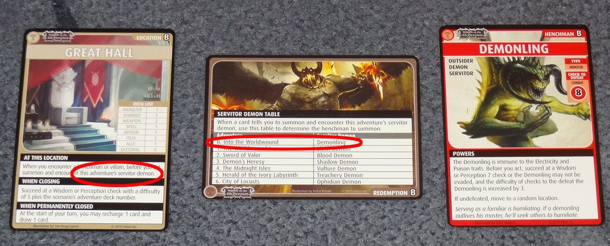 PACG Wrath Servitor Demon