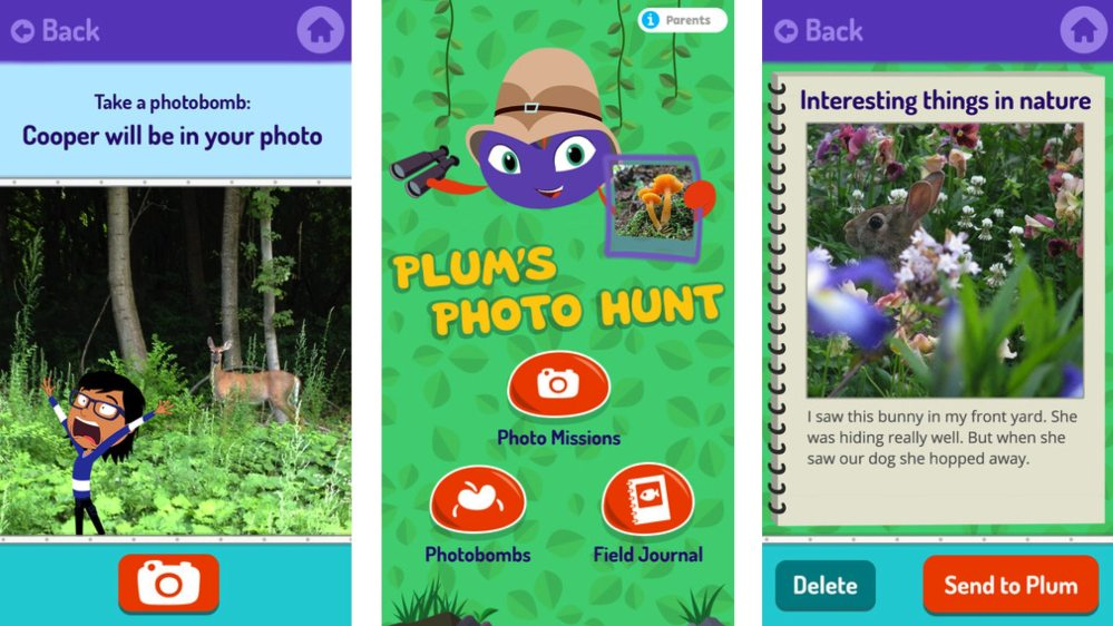 Plum's Photo Hunt. App store images.