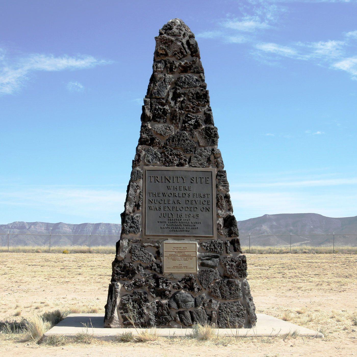 The obelisk marking ground zero. Image courtesy trinityremembered.com