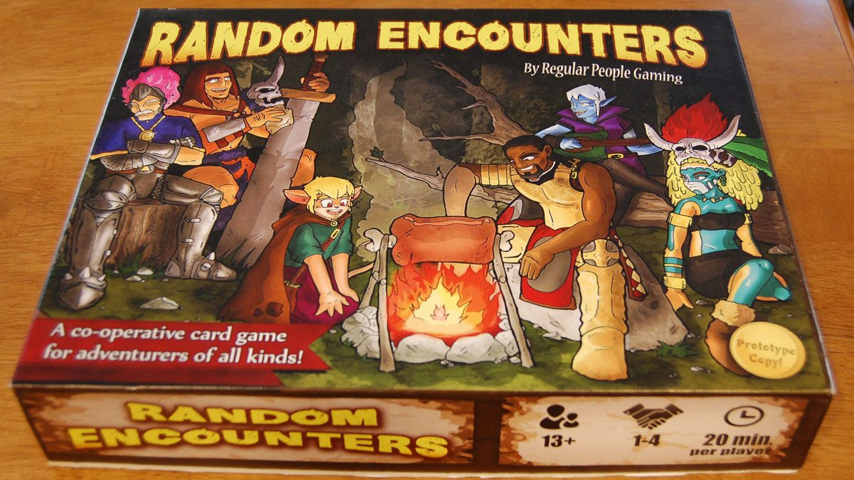 Random Encounters prototype box. Artwork subject to change. Image by Rob Huddleston.