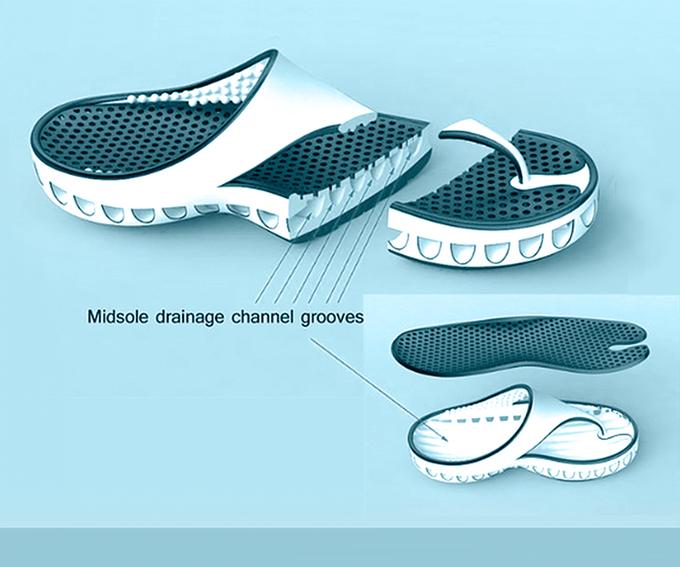 SandOut Shoe product technology diagram