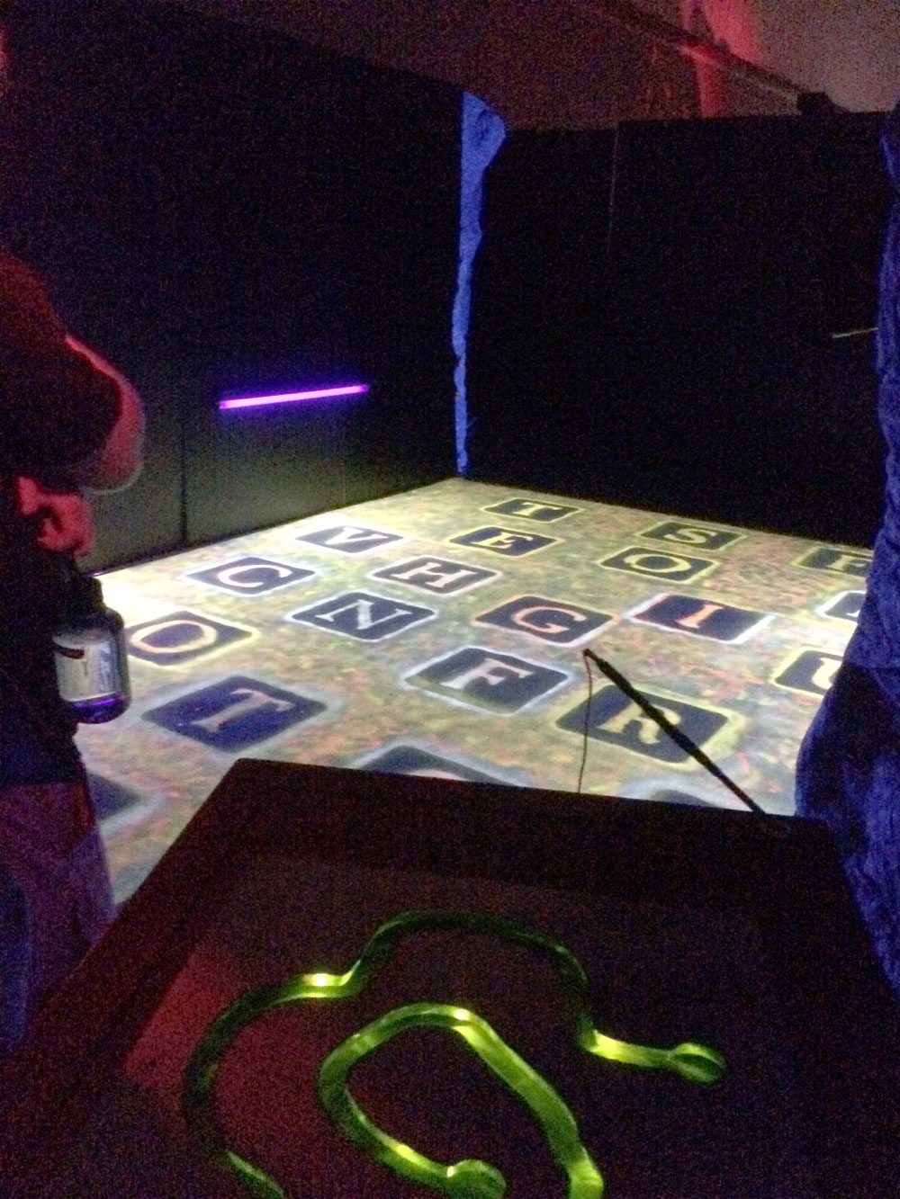One of our favorite puzzles - Brian S. figured it out, allowing us to escape the danger.