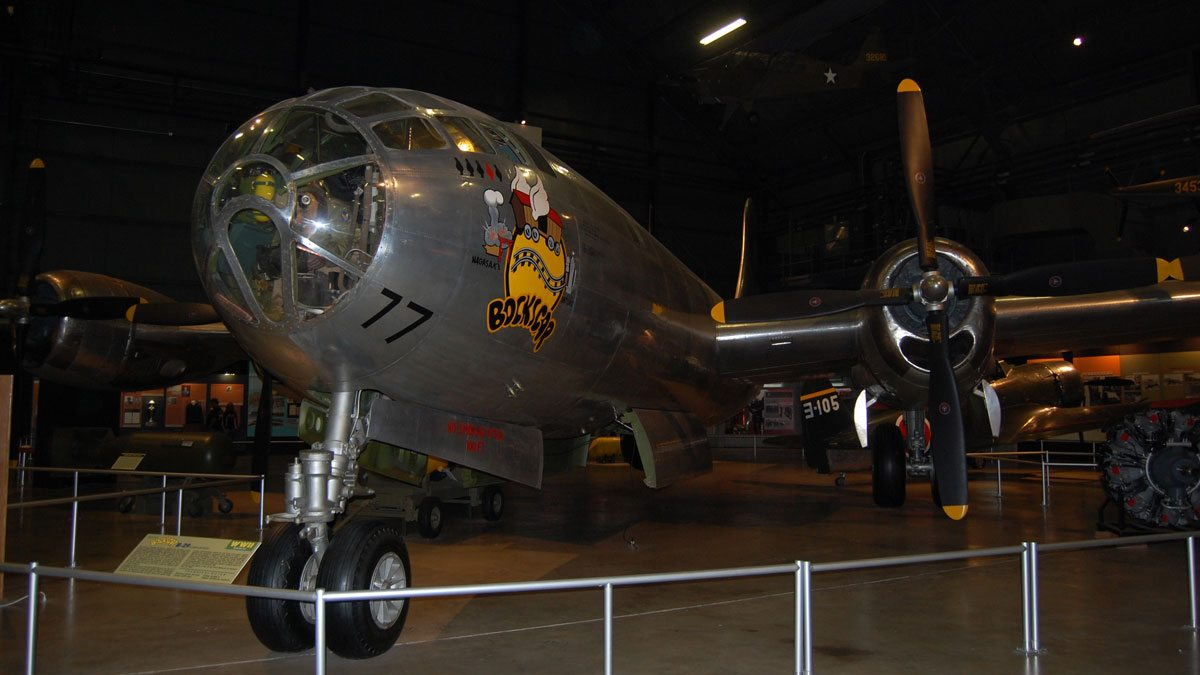 The 'Bockscar' today at the National Museum of the United States Air Force in Dayton, Ohio. Image by Rob Huddleston.