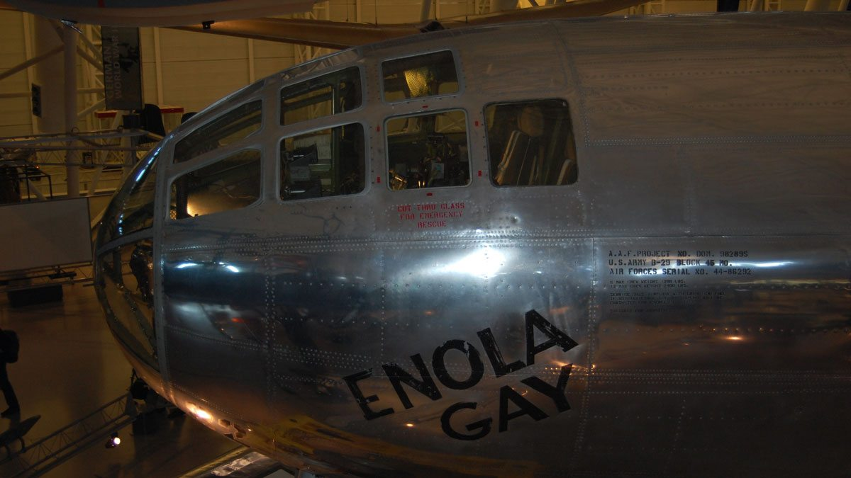 The 'Enola Gay' today in the Steven F. Udvar-Hazy Center in Washington, D.C. Image by Rob Huddleston.