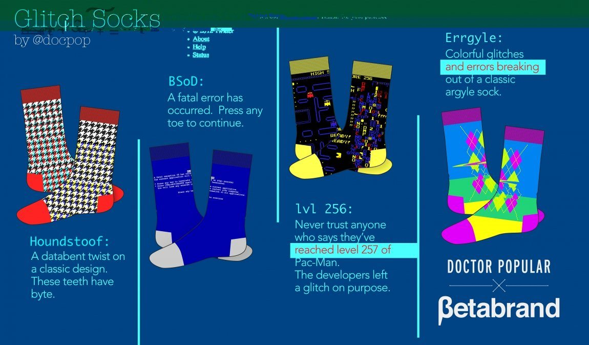 glitch socks
