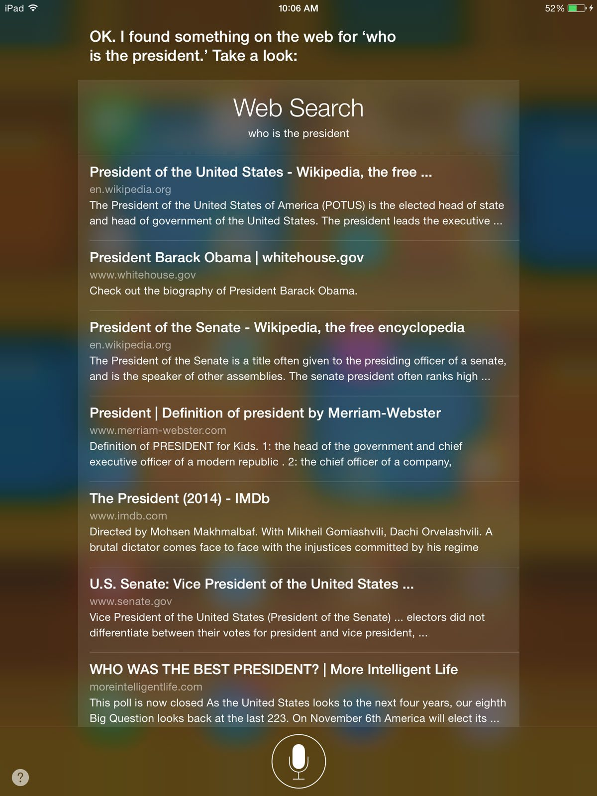 Siri's answer