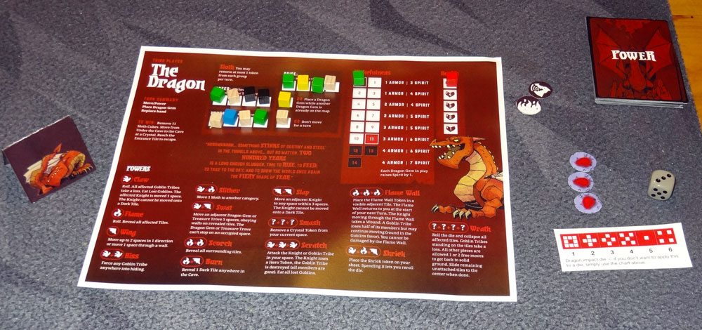 Dragon player board