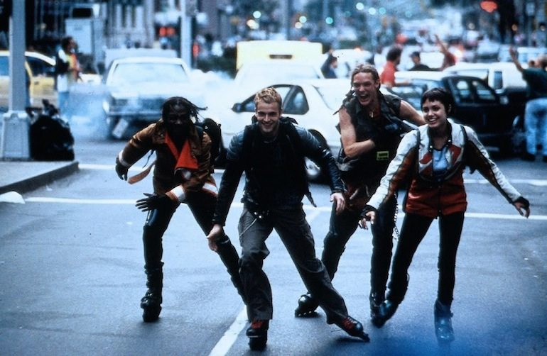 Rollerblading hackers? Sure, why not?