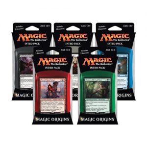 The five Magic Origins intro decks.