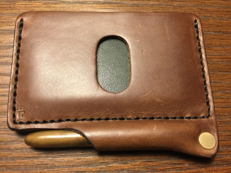 (Architect's Wallet in Natural Chromexcel with the raw brass pen - Photo by Skip Owens)