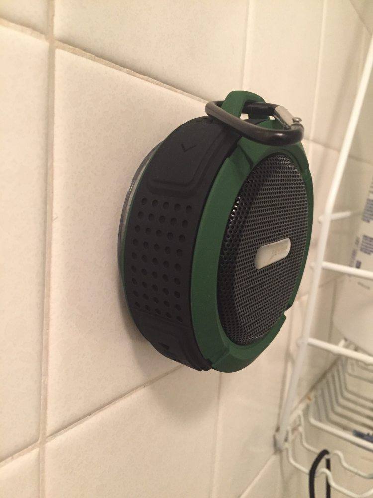 waterproof speaker side