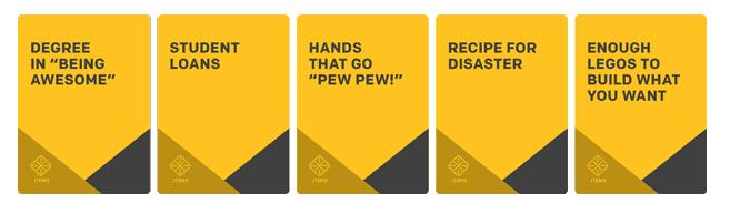 Skip Trace Item Cards