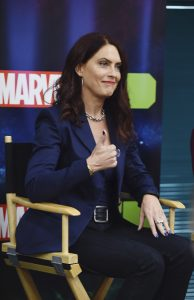 "Vanessa Marshall (Gamora) at the ""Marvel's Guardians of the Galaxy"" event in Burbank, California (September 1). ""Marvel's Guardians of the Galaxy"" airs on Disney XD. (Disney XD/Matt Petit)"