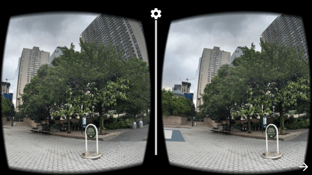 VR Bifocal View of Battery Park City esplanade