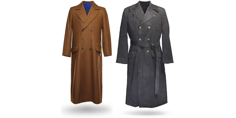 The 10th Doctor's coat, and Captain Jack's. Image: ThinkGeek