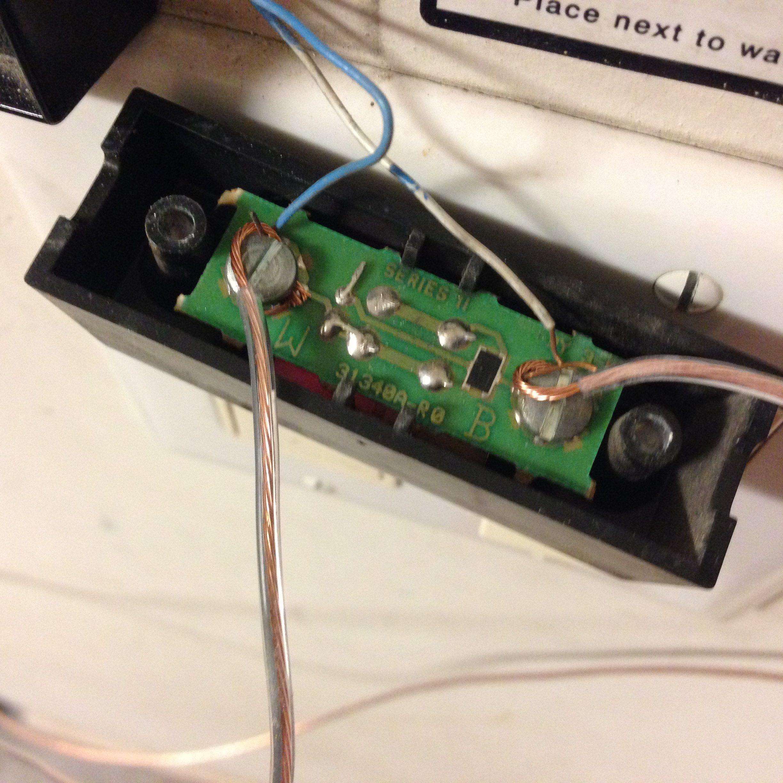 garage door button wiring
