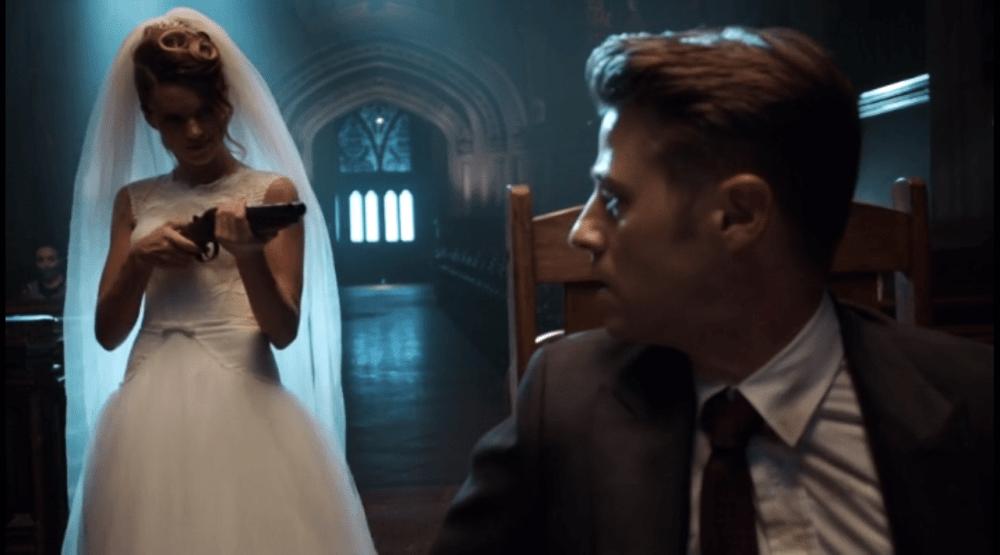 Literally a shotgun wedding. (Image via FOX)