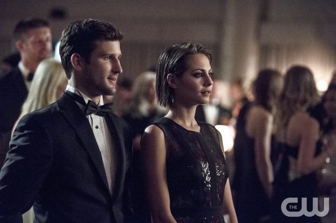 """Arrow -- """"Brotherhood"""" -- Image AR407B_087b.jpg -- Pictured (L-R): Parker Young as Alex Davis and Willa Holland as Thea Queen -- Photo: Cate Cameron/The CW -- �© 2015 The CW Network, LLC. All Rights Reserved."""