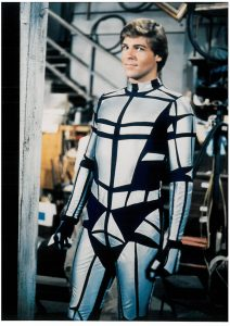 Chuck Wagner in Automan suit