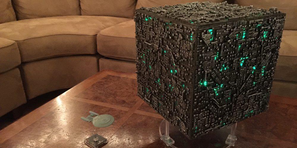 LED Modded Oversized borg Cube