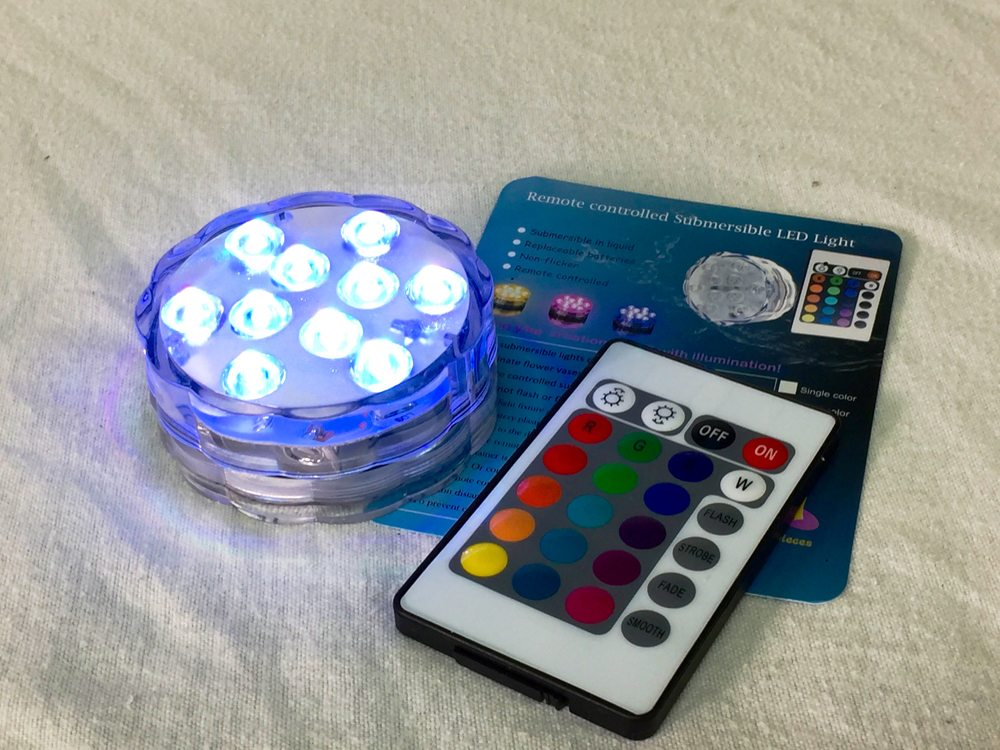 Remote controlled submersible LED