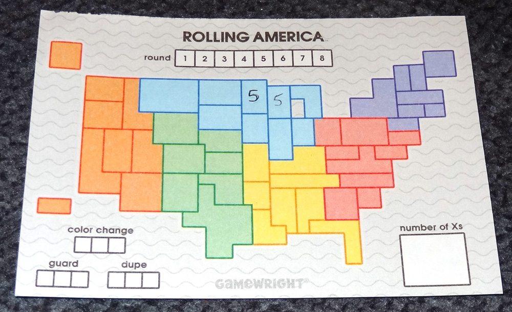 Rolling America map