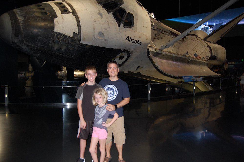 Me, the kids, and Atlantis (photo by Anthony Karcz)