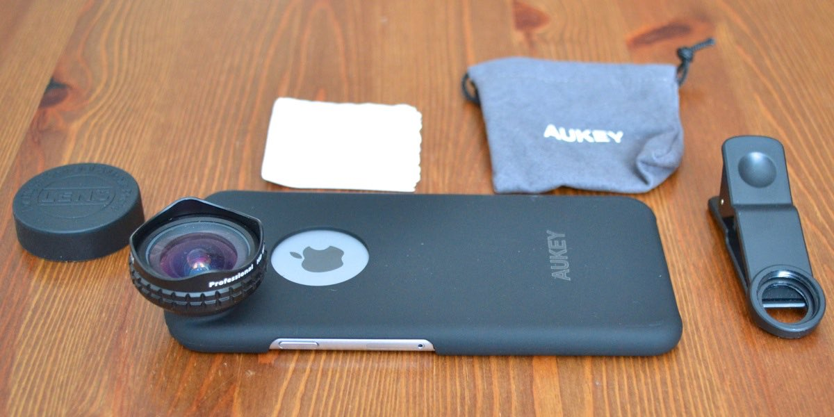 Aukey add-on lens for iPhone