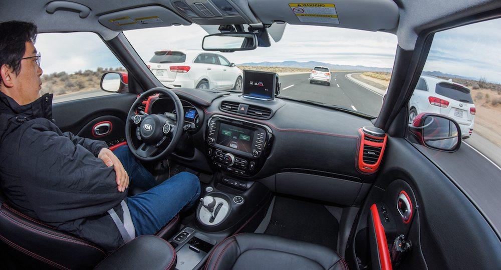 Kia Soul EV Autonomous Vehicle Traffic Jam Assist