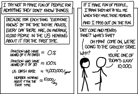 Randall Munroe gets it. Source and copyright XKCD.com