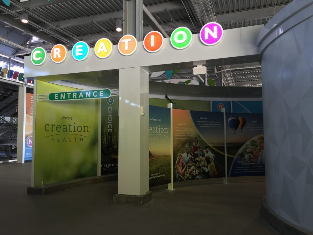 The Creation Interactive display, Florida Hospital Pavilion, photo by Corrina Lawson