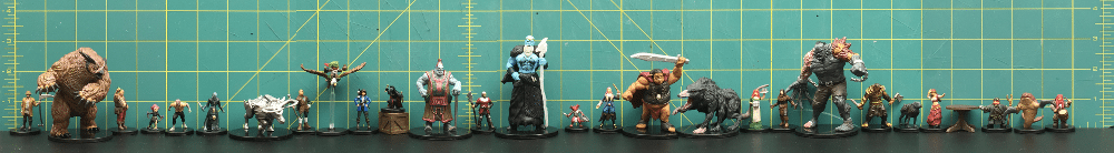 Size comparison of all figures