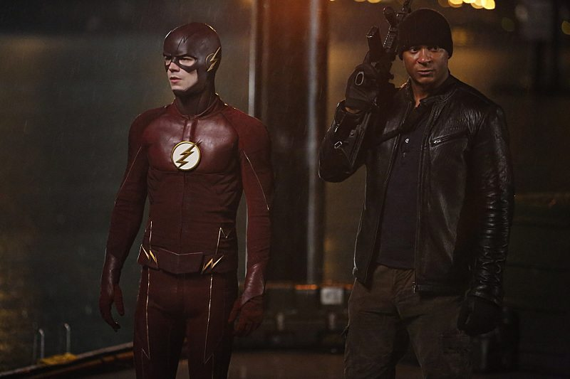 """The Flash -- """"King Shark"""" -- Image FLA215b_0084 -- Pictured (L-R): Grant Gustin as Barry Allen / The Flash and David Ramsey as John Diggle -- Photo: Bettina Strauss/The CW -- �© 2016 The CW Network, LLC. All rights reserved"""