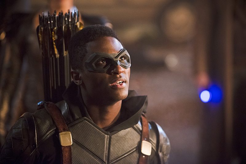"""DC's Legends of Tomorrow -- """"Star City 2046"""" -- Image LGN106b_0363b.jpg -- Pictured: Joseph David-Jones as Connor Hawke / Green Arrow -- Photo: Diyah Pera/The CW -- �© 2016 The CW Network, LLC. All Rights Reserved."""