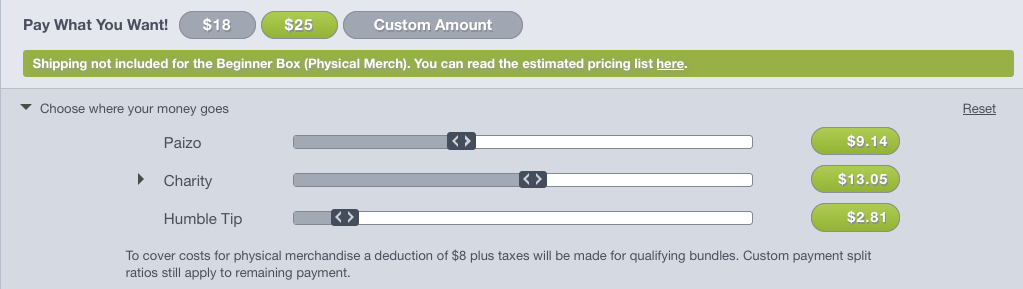 Payment Percentage Selector