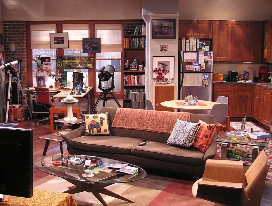 Raj's apartment in a converted watch factory.