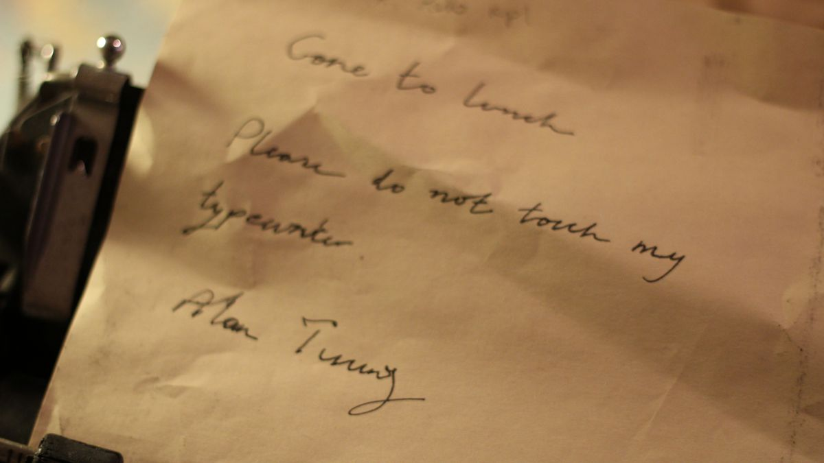 Gone to lunch - Alan Turing